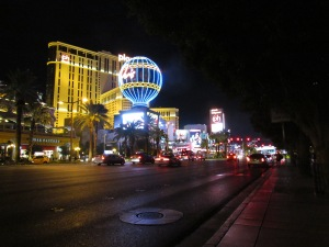 Las Vegas Strip at night.